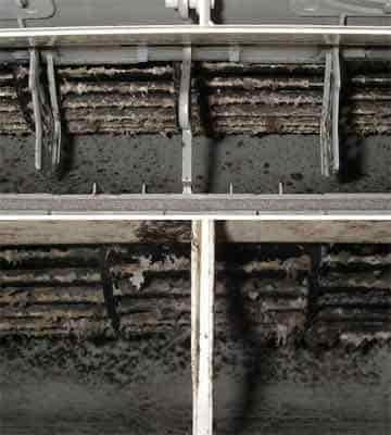 エアコンの吹出し口の汚れが水を飛ばす原因 壁掛形