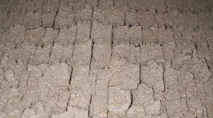 クリーニング前の熱交換器 京都の天井吊下形エアコン