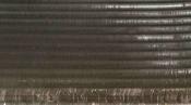 クリーニング前の熱交換器 京都の天井カセット形エアコン4方向吹出(アップ)