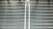 クリーニング後の熱交換器 神戸の天井カセット形エアコン4方向吹出