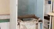 クリーニング後の筐体 床置形エアコン