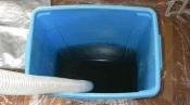 フィルター自動掃除機能付のダイキン壁掛形エアコンのクリーニングの廃水