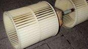 クリーニング後のファン 京都の天井カセット形エアコン2方向吹出
