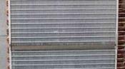 クリーニング後の熱交換器 神戸の床置形エアコン