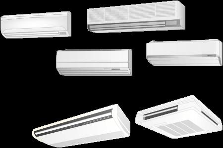 壁掛形エアコンと天井吊下形エアコン