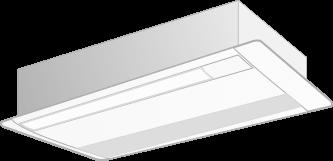 天井カセット形エアコン 1方向吹出